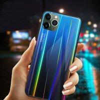 ingrosso lastre di vetro iphone-Teca di vetro Laser placcatura gradiente temperato per il nuovo iPhone 11 Pro Max 11 XS Max XR X XS 8 7 6S 6 Plus