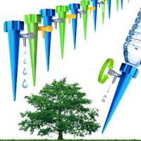 botella de agua de riego de jardín al por mayor-Jardín Cono Lazy automático de riego filtraciones planta punto válvula ajustable de riego Una flor Waterers práctica de riego MMA1951-6