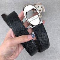 ingrosso cinture di marca designer marrone-Cintura di design per cinture di lusso Cintura di moda per uomo Casual Marca Smooth Buckle Nero e marrone Larghezza opzionale 34mm Alta qualità con scatola