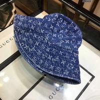 mavi monte edilmiş şapka toptan satış-Moda Lüks Mektup Kravat-boyama Düz Kap Marka Tasarımcısı Kapaklar Dört Mevsim Rahat Kapaklar Mens Womens için Donatılmış Şapkalar Mavi Renk Yüksek kalite