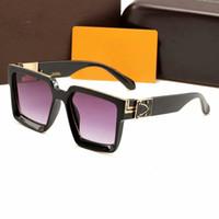 cajas de regalo para gafas al por mayor-Diseñador de alta calidad Marcos de anteojos Hombres Mujeres Gafas Gafas de sol de tendencia vintage Mujeres Diseñador de la marca Señoras Gafas de sol con caja de regalo
