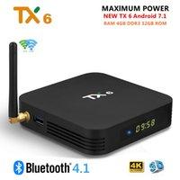 hdmi bluetooth box оптовых-TX6 TV Box Android 9.0 4 ГБ DDR3 32 ГБ Allwinner H6 EMMC 2.4 Г 5 Г Wi-Fi Bluetooth 4.1 Поддержка 4 К H.265 HD Smart Set Top Box