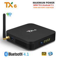 android hdmi bluetooth großhandel-TX6 TV Box Android 9.0 4 GB DDR3 32 GB Allwinner H6 EMMC 2.4G 5G WiFi Bluetooth 4.1 Unterstützung 4K H.265 HD Smart Set Top Box