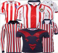 top club jersey venda por atacado-Qualidade superior 2018 CLUB WORLD CUP Chivas de Guadalajara camisas de futebol 18 19 home away 3rd Chivas 110 O.PINEDA camisa de futebol