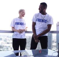 top camisa de algodón para hombre al por mayor-Marca nueva camiseta hombres mujeres alta calidad 100% algodón ropa Hip Hop Top Tees V amigos camiseta