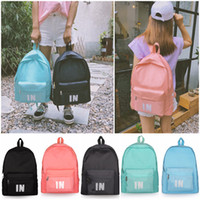 Wholesale horizontal backpacks resale online - IN Stock Pink Grey Backpack Casual Backpacks Teenager Student Schoolbag Travel Bags Colors X32X15cm Horizontal Stripes