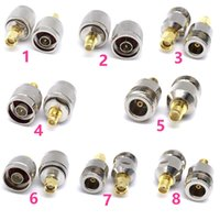 Wholesale sma male to n female resale online - RF Adapter N Plug Male Nickel Plating To SMA Female Gold Plating Jack RF Connector Straight