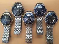 saatleri karıştır toptan satış-En kaliteli lüks deniz ustası 007 james erkek izle 42mm mix renk dial saatler otomatik hareketi erkek izle