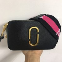 Wholesale cell phone body strap for sale – best 2019 best seller autumn winter new women wide shoulder strap camera bag shoulder small square bag hit color mini bag