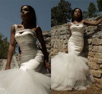 Wholesale one strap mermaid bridal gowns for sale - Group buy Afriacan One Shoulder Mermaid Wedding Dress Sexy Spaghetti Beaded Sweep Train Vintage Plus Size Bridal Gown