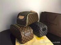 tout sacs achat en gros de-Sacs cosmétiques 2019 vente chaude mode femmes célèbre Designer classique portefeuilles occasionnels sacs à main cas cosmétiques sac entier