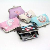sevimli çanta desenleri toptan satış-5 stilleri Moda Mini Unicorn Desen PU Cüzdan kızlar Sevimli Çanta çocuk Coin Çantalar Kız Hediye M029