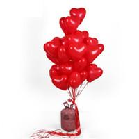 Wholesale valentines latex balloons resale online - Romantic Inch Love Heart Latex Helium Balloons Wedding Decoration Globos Valentines Day Happy Birthday Party Ballon