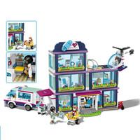 ingrosso blocchi per le ragazze-I giocattoli dell'ombrello del giocattolo dell'ospedale del giocattolo di istruzione della ragazza del ragazzo di DIY costruiscono i giocattoli
