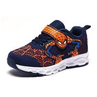 ingrosso scarpe da ginnastica sapato-Spiderman Kids Shoes Sneakers Boy Girl Kid Tenis Infantil Bambini Sapato Infantil Cocuk Ayakkabi Chaussure Enfant Tenis Menino Y190525