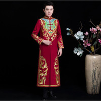 c000541fe Asia Element male Tang Suits Jacket + Robe traditional Wedding costume  groom Gown wedding bridegroom Clothes for Oversea Chinese