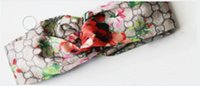 Wholesale flower heads for headbands resale online - Designer Headband Head Scarf for Women Luxury Silk Elastic Hair bands Girls Retro Floral Bird Flower Turban Headwraps Gifts