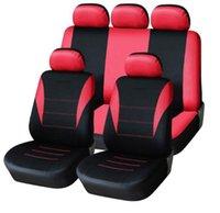 bancos de cobertura universal venda por atacado-Universal Car Seat Cover 9pcs assento completa uniões para Crossovers Sedans Auto Interior Car Acessórios adequado para o cuidado Car Seat Protector