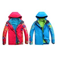 лыжная одежда женщина оптовых-Women Skiing Jackets 3 in 1 Double Layer Warm Waterproof Windproof Outdoor Hiking Skiing Clothes Ski Snowboard Snow Jacket Coat