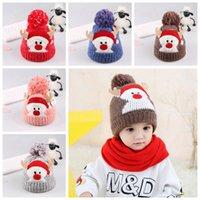Wholesale deer hat antlers for sale - Group buy Christmas Child Knitting Hat Pom Beanie Kids Adult Deer Antler Xmas Crochet Knitted Ball Cap Party Favor RRA2376