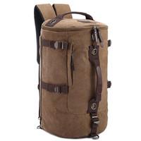d90d4fe9a4e6 Men Women Backpack Canvas Large Bag Duffel Bags Travel Hiking Outdoor  Backpacks Unisex Sports Bag High Capacity