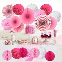 Wholesale mounted wall fan for sale - Group buy Paper Fan flower Paper Flower Balls Sets birthday party paper fan flower for decoratin Shopping mall event decoration holiday decoration A07