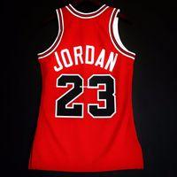 gilets 4xl achat en gros de-100% Cousu Michael # 23 Mitchell Ness 1985-86 En Gros Jersey Hommes Taille Vest XS-6XL Maillots De Basketball Cousu