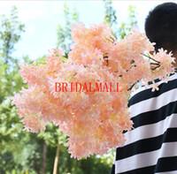 ingrosso fiori decorativi rosa-Beautiful New Pink White Wedding Mazzi nuziali Fiori artificiali Forniture di nozze Piante floreali decorative Sposa Holding Spilla Bouquet