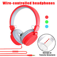 Wholesale cute mic resale online - Cute Fashion Candy Color Headphones Folding Earphone with Mic Stereo for Mp3 Player Smart Phone