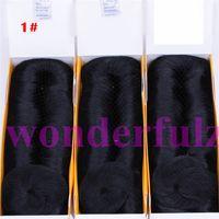 kısa insan saçı örgüleri toptan satış-Kings Kısa Femi Örgü İnsan Saç Uzantıları Katmanlı 28 Parça Kahverengi # 27 Saç Düz Siyah İnsan Saç Dokuma 3-5 inç