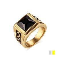ingrosso black market gold-Nuovi prodotti sul mercato in acciaio inox nero con anello in acciaio di qualità per creare accessori moda uomo argento oro