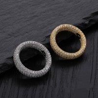 marcas de jóias venda por atacado-Bling Cubic Zirconia S925 Anéis de Prata Esterlina Dos Homens Hip Hop Anéis Congelados Out Hiphop Jóias Homens Marca Designer de Jóias