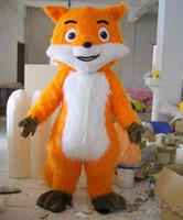 raposa mascote trajes venda por atacado-Esquilo de laranja Traje Da Mascote Dos Desenhos Animados Da Raposa Anime personagem de natal Trajes Do Partido Do Carnaval Fantasia Traje Adulto Outfit