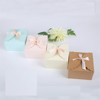 Wholesale wedding chocolate gifts for guests resale online - Gift Box Rustic Wedding Decoration Baby Shower Candy Packaging Box Cartons Chocolate Party Wedding Gifts box For Guests CT0109
