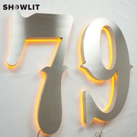 porte en acier inoxydable achat en gros de-Numéros de maison en acier inoxydable illuminés muraux maison étanche chiffres décoratifs modernes éclairés signe de porte numéros