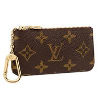monedero llaveros al por mayor-Diseñador de la Mujer Key Key Key Key Bag Bag Monedero Lona Marrón Blanco Mujeres A cuadros Llavero Monederos