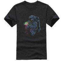 freie völker kleidung großhandel-Kosmisches Astronauten-T-Stück - Rave-Shirt EDM-Kleidung kühl für Partynachtstadtmenschen Art- und Weisemann-T-Shirt Freies Verschiffen