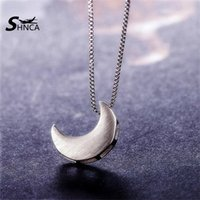 Wholesale sterling silver moon pendant for sale - Group buy SHNCA Brand New Arrival Sterling Silver Moon Choker Pendant Necklaces For Women Girl Gift Sterling Silver Jewelry N002