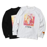new york hoodies hommes achat en gros de-Dessin animé grue 3D t-shirt hommes héron Preston H / P marque mode h1: 1 New York Skatebaords Hoodie Hip Hop Hommes Tissu 2019