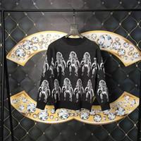 ingrosso maglioni mens di alta qualità-2019 Lusso Europa Francia Parigi Moda uomo progettista di marca maglioni manica lunga di alta qualità Alien stampa modello Nuovo abbigliamento uomo Tag caldo