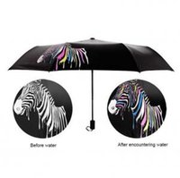 guarda-chuva muda de cor venda por atacado-Mudança de Cor da zebra Sombrinha Sombrinha Dobrável Umbrella Anti-UV Dobrável Ao Ar Livre Sombrinha Dobrável Chuva Guarda-sóis OOA6150