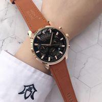 relógios de luxo super venda por atacado-Super hot Mont Men Assista movimento automático de quartzo relógios de Couro PU de luxo moda casual Blanc Relógio De Pulso orologi da uomo montre homme