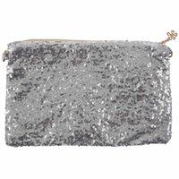 sparkle bags achat en gros de-Glitter Bling paillettes paillettes embrayage sac à main sac à bandoulière soirée, argent