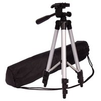 Wholesale professional camcorder tripods resale online - Camera Tripod Aluminum Professional Video Camera Mount Leg Adjustable Stand with Flexible Head for Canon Nikon DV DSLR Camcorder Gopro cam