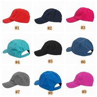 Wholesale hat casual resale online - Women s fashion casual hat brand designer baseball cap outdoor sports cap travel camping sunscreen hat LJJZ682