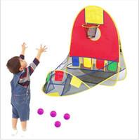 rotes spielzelt großhandel-Kinderzelt Outdoor Indoor Schießzelt Faltbares Spielhaus Pädagogisches Spielzeughaus Outdoor Eltern-Kind-Spiel Spielzeughaus