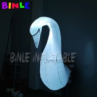 Wholesale night walk led light for sale - Group buy Outdoors street parade walking white inflatable swan costume with led lighting dance performance suits for night event