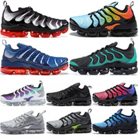 Wholesale cheap sneakers for sale - Cheap TN Plus Men Running Shoes Sunset Triple White Black Red Cream Sicle Game Royal Grape USA Women Designer Shoes Sneakers