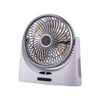 natürliches licht büro großhandel-Mute-USB-Ventilator Office Home Geschwindigkeit einstellbar Natural Cooling Desktop-wiederaufladbare Geschenk beweglicher LED-Licht Luftzirkulation Sommer
