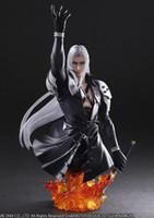 halbkörper spielzeug großhandel-Sephiroth Final Fantasy VII FF7 Halbkörper PVC Action Spielzeugfiguren Japanische Anime Figur Sammlerfiguren Neu eingetroffen